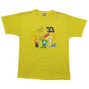Clint Bowyer#33 Yellow Cereal Promo Shirt LARGE
